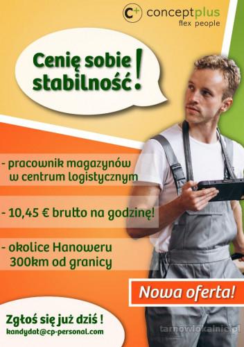 Komisjoner/Pracownik magazynu - bez znajomości języka niemieckiego